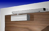 Fixing a guide rail door closer in figure 1 application