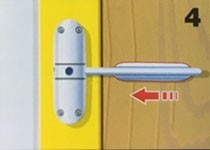 Protect door from marking using slide plate supplied.