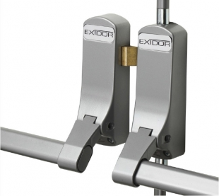 EXIDOR 296-4 push bar panic hardware for rebated double doors