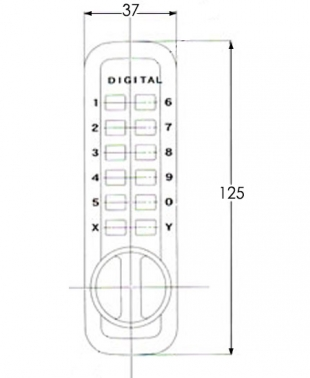 Little Lockey L235 - Digital lock - dimensions