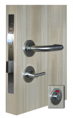 CM101 complete bathroom lock set with large / accessible thumbturn