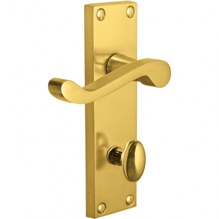 Pegasus Victorian Scroll - 5404 lever bathroom, Polished brass