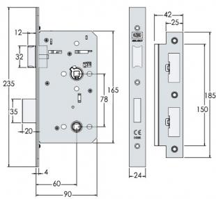 UNION HD72WC Heavy duty mortice bathroom lock | Doorstuff