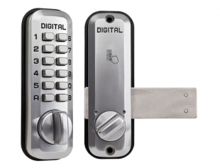 Little Lockey L220 - Slide bar digital lock, Satin chrome