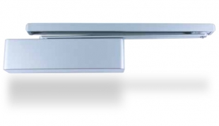 SYNERGY S3500 guide rail cam action door closer - shown with semi-radius cover