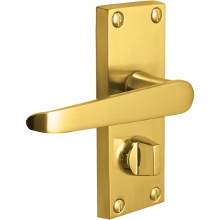 Zeus Straight Victorian Lever Handles On Backplates