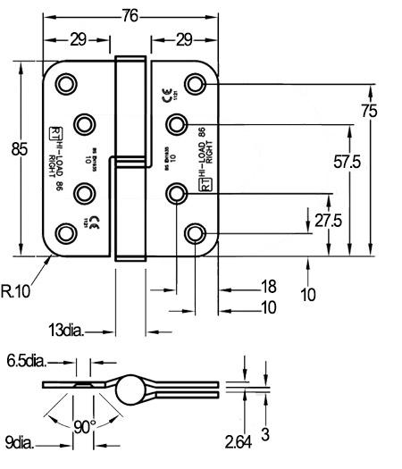 H086 Lift off HI-LOAD hinges for fire doors   Doorstuff
