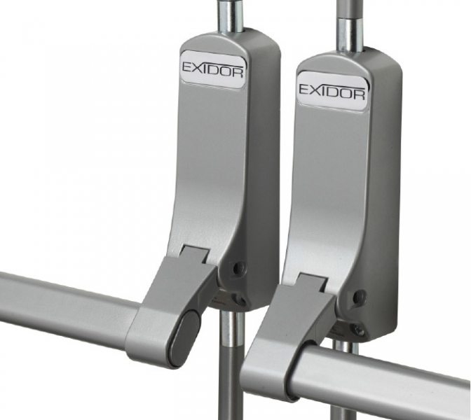 EXIDOR 294-4 Panic bolt push bar for double non-rebated doors