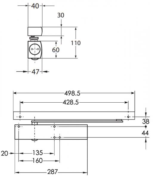 GEZE TS5000E electromagnetic door closer | Doorstuff