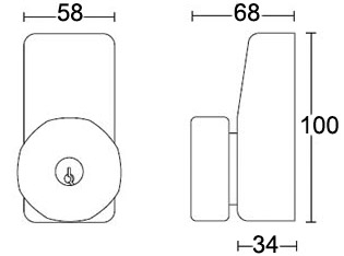 EXIDOR 298 small outside access device - dimensions